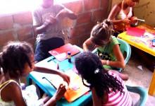 Art day in school - Volunteer in Coloimbia