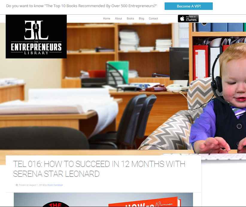 Entrepreneurs Library Podcast: How to Succeed in 12 Months