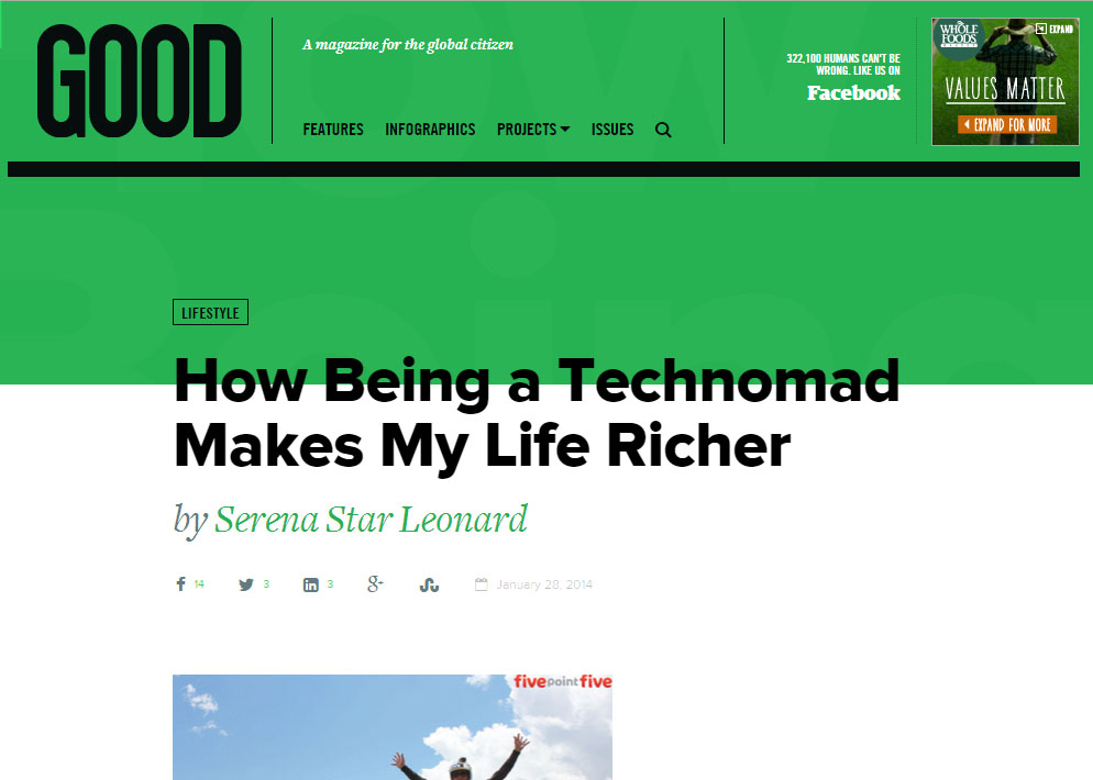 Good is: How Being a Technomad Makes My Life Richer