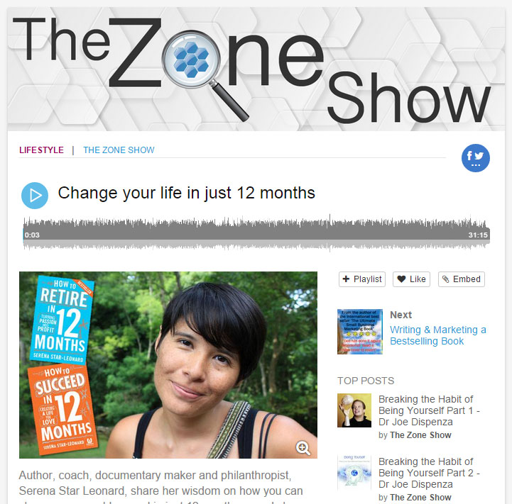 Zone Show Podcast: How to Succeed in 12 Months
