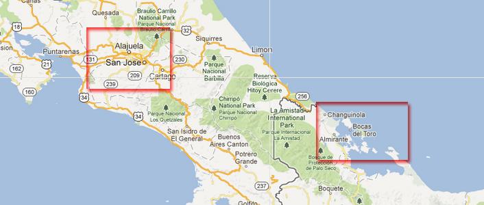 Bocas Del Toro to San Jose
