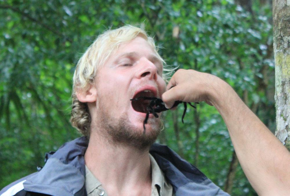 Tarantula in the mouth