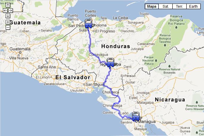 How To Get From Managua Nicaragua To Utila Bay Islands Honduras - Nicaragua map honduras