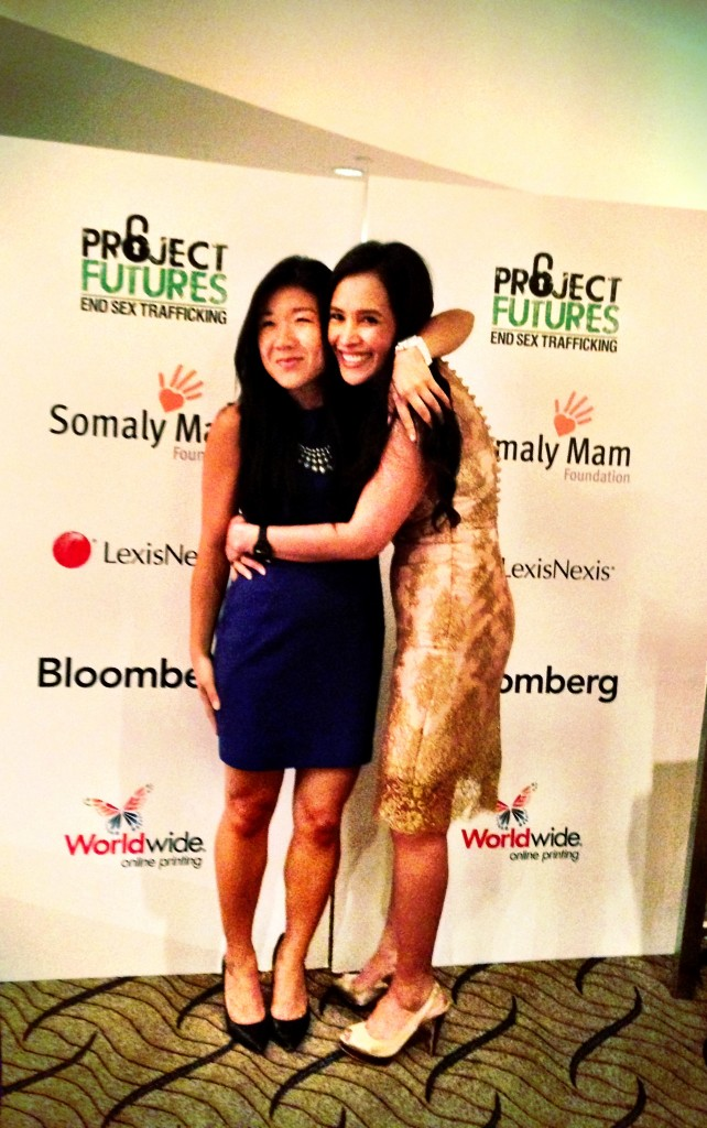 Stephanie Lorenzo with Somaly Mam
