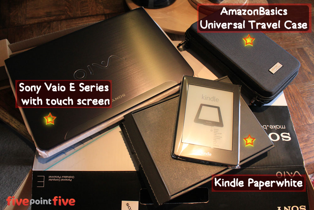 Review Sony Vaio E Series, Kindle  Paperwhite, AmazonBasics Universal  Travel Case