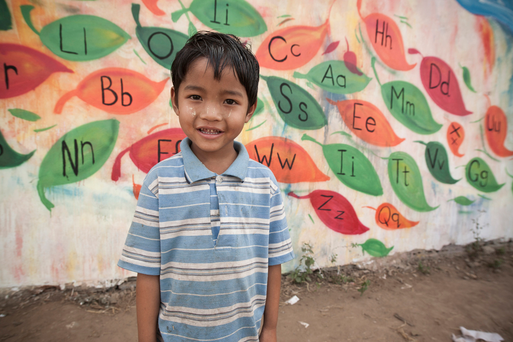 Child from Myanmar, who was part of the Little Lotus Project. Image by Pat Shepherd