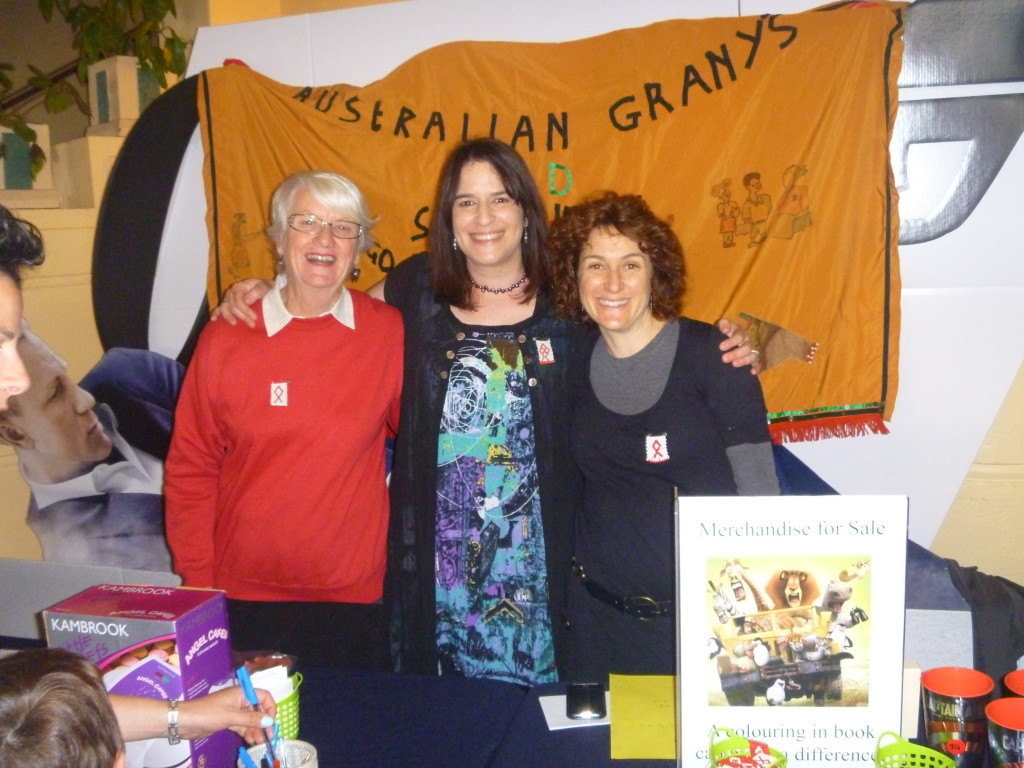 Lesley Potter, Michelle Favero and Gia Janks at a Gogos and Mamas Fundraiser