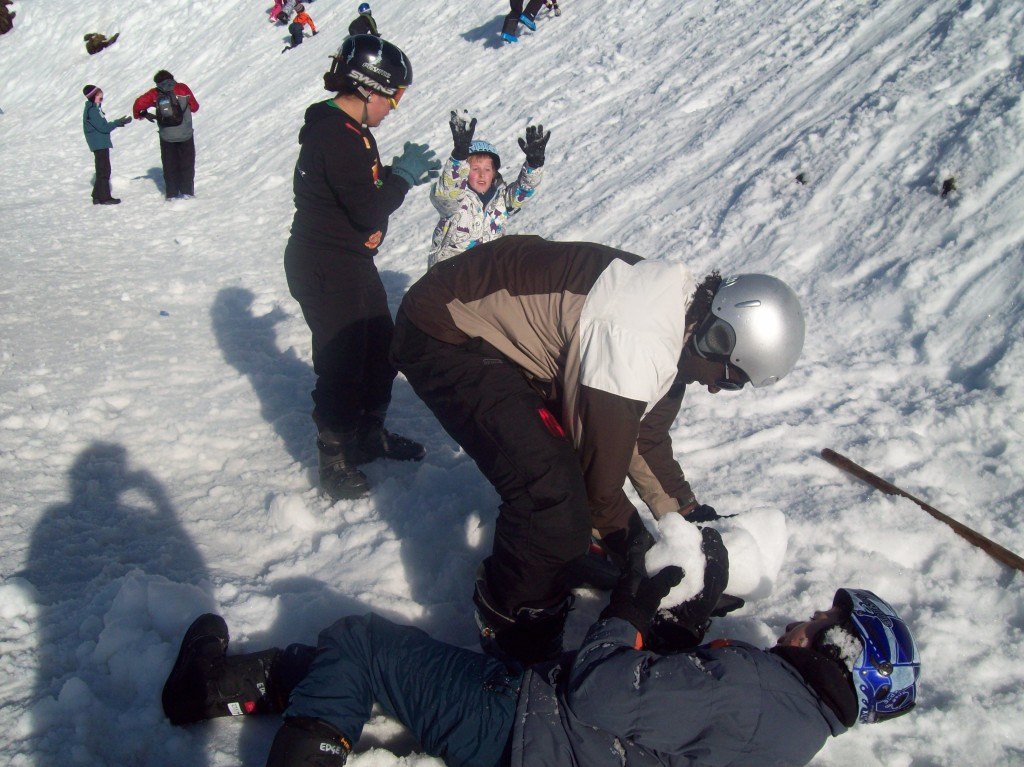 Snow fun at Mt. Ruapehu with a group of children to help develop their adventurous nature