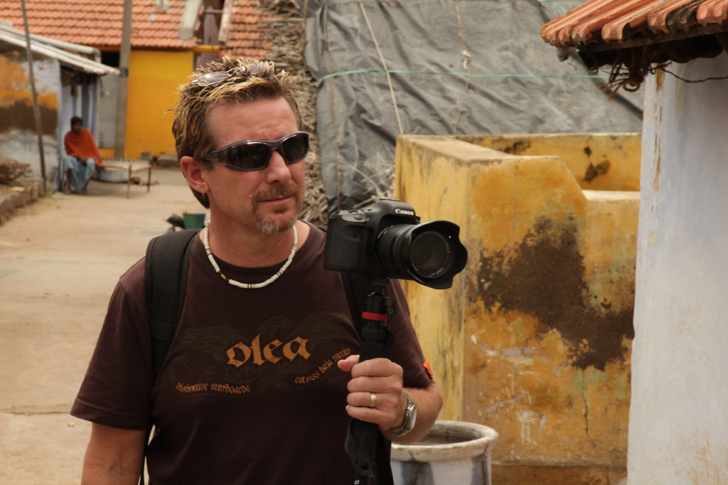 Evan filming in India