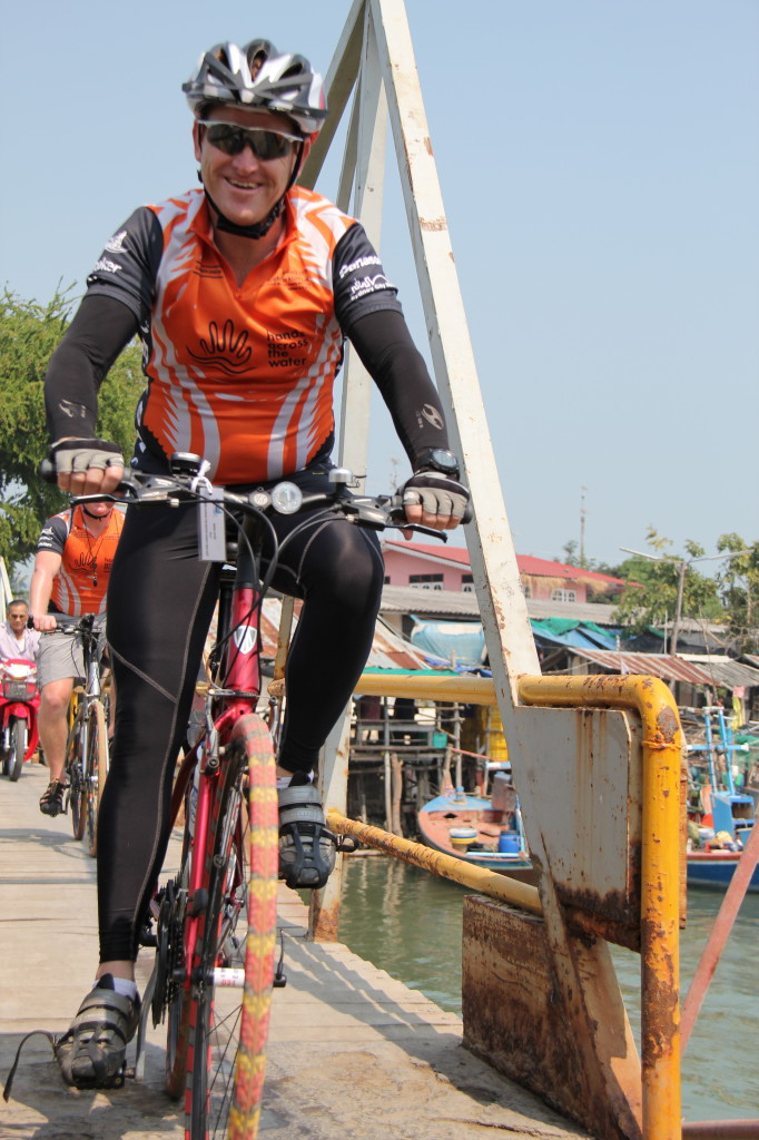 Leading by example- each year Peter rides 1600km across Thailand and alongside supporters, raising money for the kids