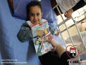 Iraqi child in hospital