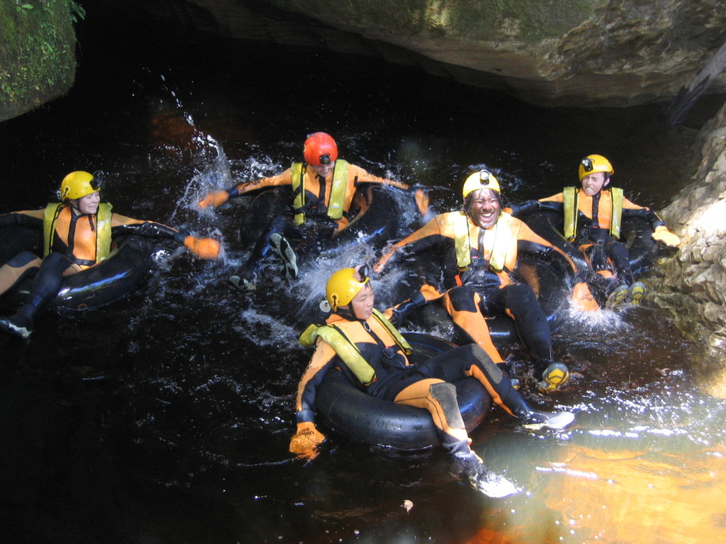 Cave rafting - adventure program to take children outside of their comfort zone