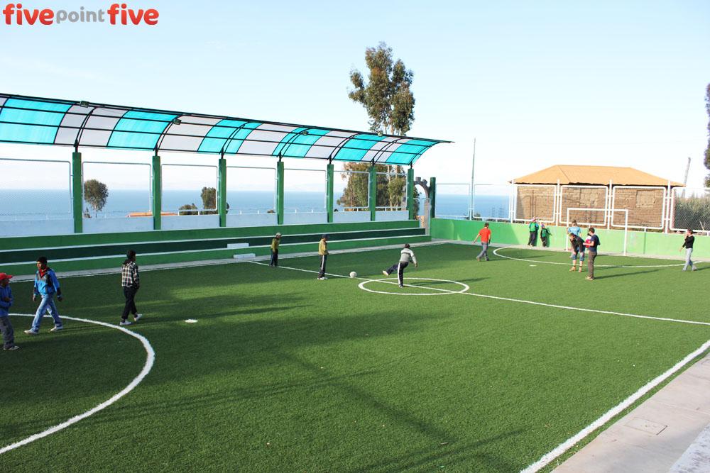 Football Field, Amantani Island, Peru