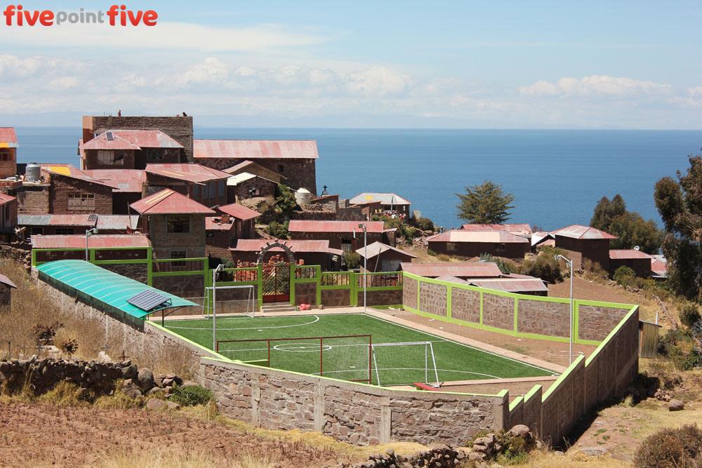 Football Field, Lake Titikaka, Peru