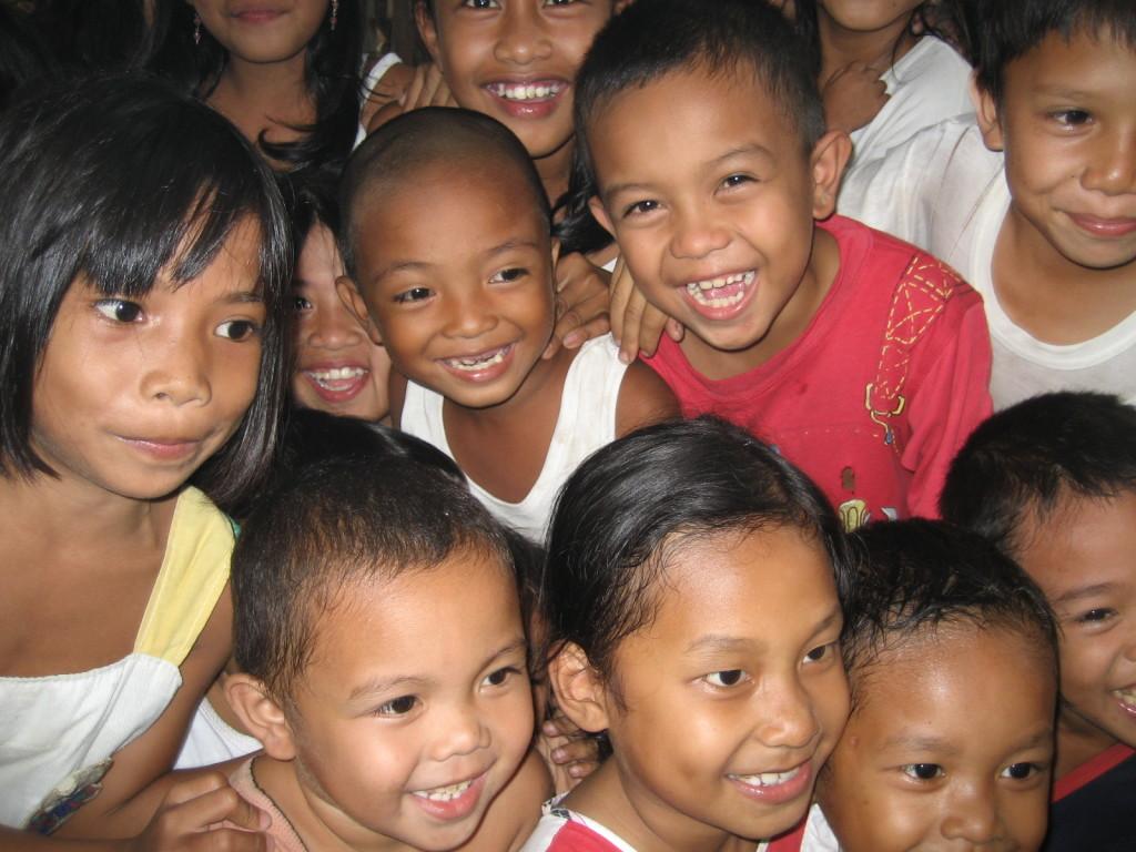 Children waiting for their food - Vineyard Feeding program
