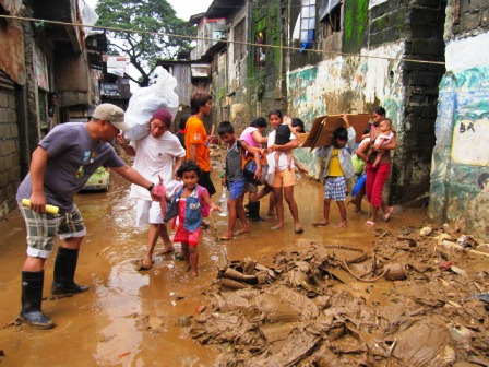 Relief Operation in the slums