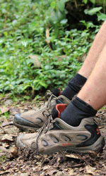 Hiking boots in central america