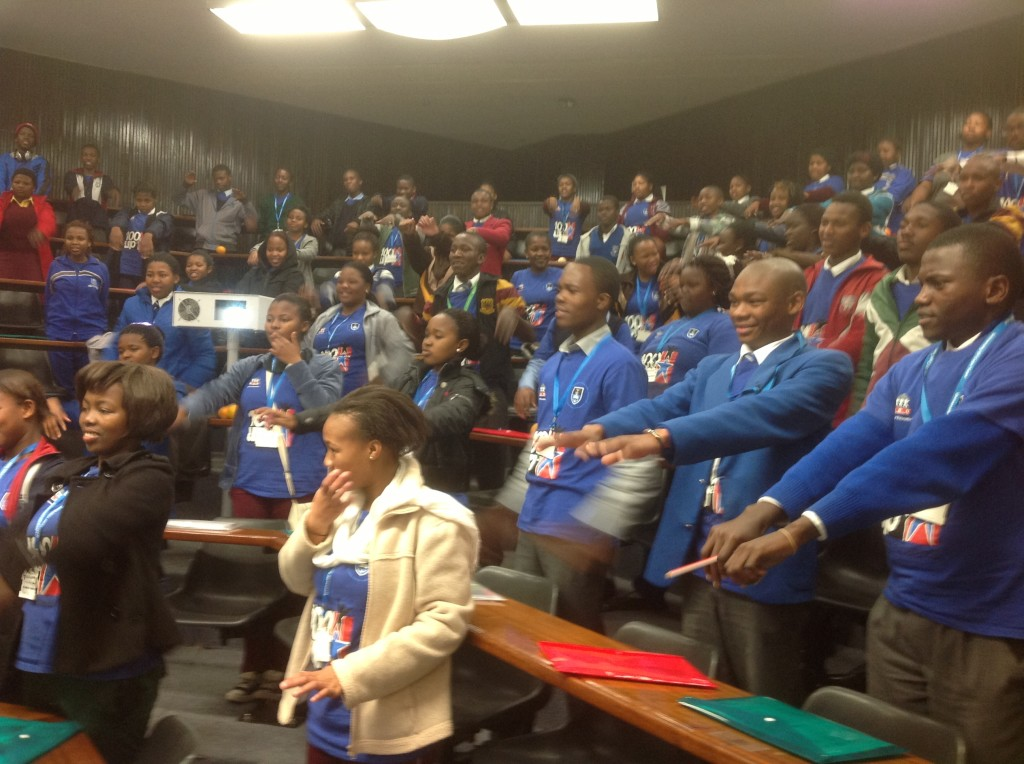 Dikakapa Everyday Heroes motivating University of Cape Town students from 20 schools