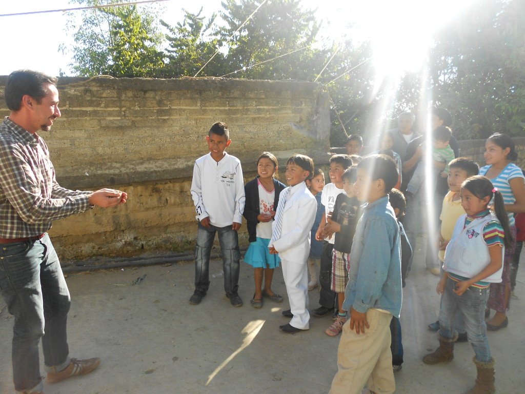 Alejandro working with the indigenous communities