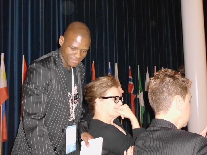 Khethelo at One Young World Summit in Zurich