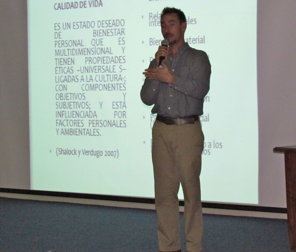 Alejandro at the Life Quality & Human Rights Conference