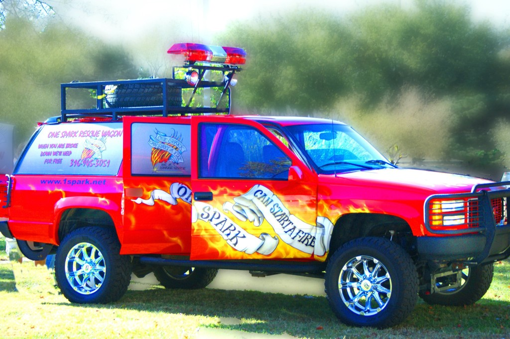 The One Spark Rescue Wagon, used to assist motorists and transport intoxicated individuals – all free of charge.