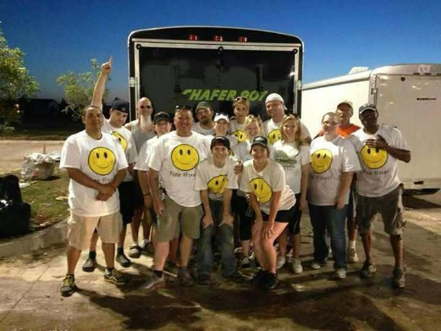 The One Spark crew assisting with the devastation in Moore, OK.