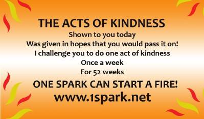 One Spark kindness card