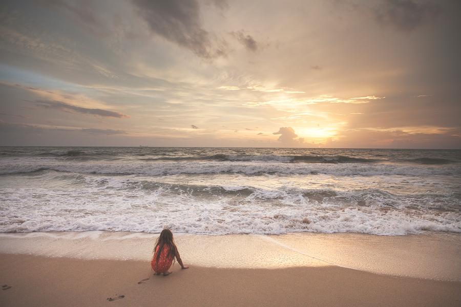 Watching sunset Koh Lanta Island in Thailand