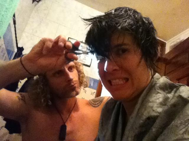 John cuts my hair