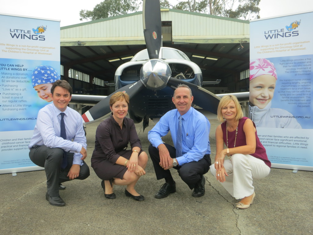 the team that made Little Wings a reality. From left to right – Adrian Nisbet MD Automation Group – Tanya Davies MP Mulgoa – Kevin Robinson CEO & Founder –Bridget McGinley Outreach Rural CNC