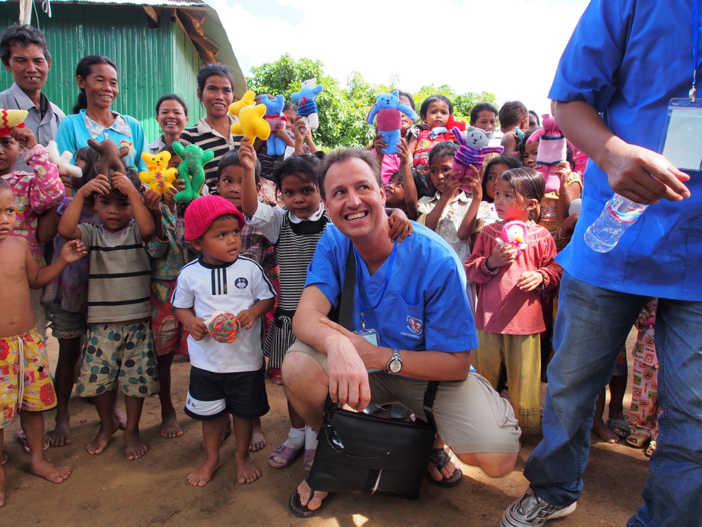 Gary Hewett providing much needed dental assistance as part of the Operation Nightingale program. Photo credit: Awareness Cambodia