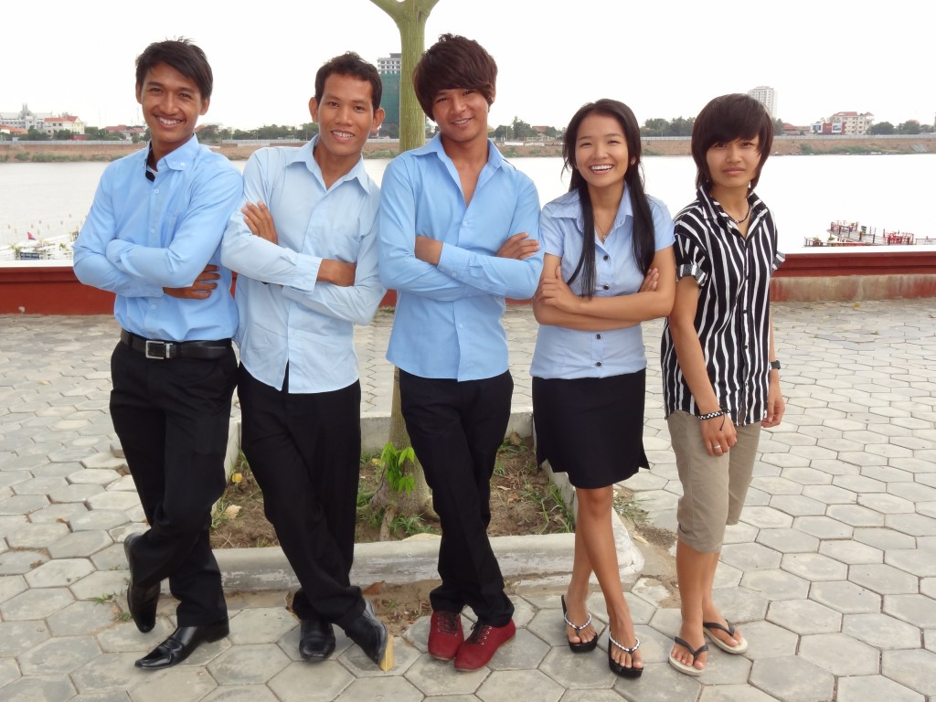 Graduate House university students are currently completing their tertiary studies. Photo credit: Awareness Cambodia