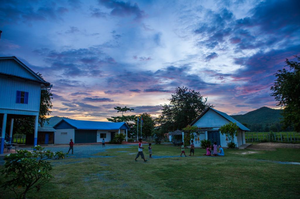 Sunshine House at dusk. Photo credit: Paul Pichugin photography.
