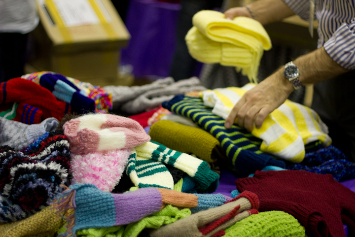 Winter goods for people in need. Another m.a.d. woman project.