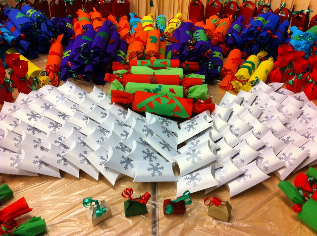 Christmas for a Cause - gifts given to charities to disperse at Christmas time. One of the many m.a.d. woman projects.