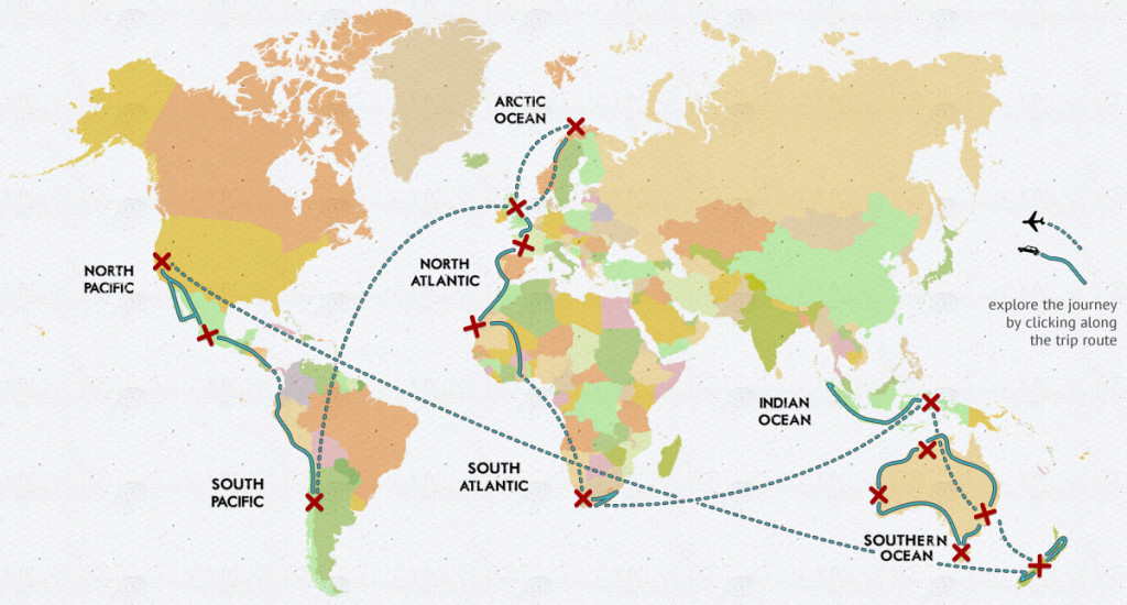 The 3mates7seas journey.