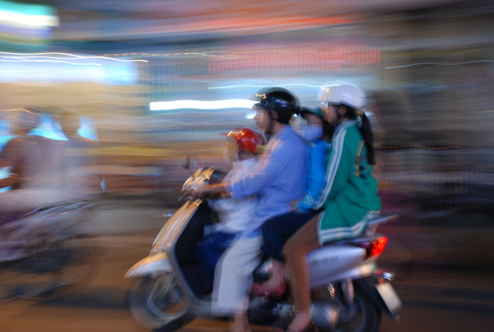 Family motorbike in Ho Chi Minh