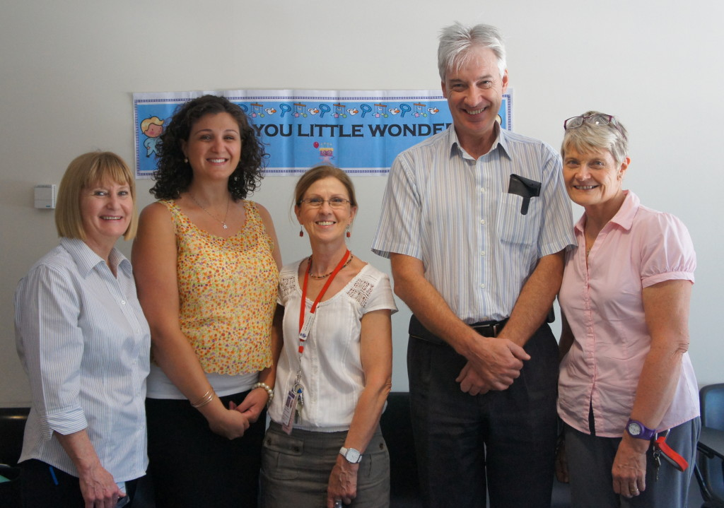 Presentation with key staff of RPA Newborn Care – Trish Mumford, Rebecca Morgan, Jan Polverino, Nicholas Evans, Sandie Bredemeyer.