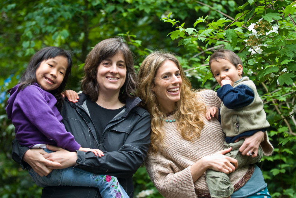 Spoon co-founders Mishelle left with daughter, Bakha, and Cindy right with son, Jadyn.