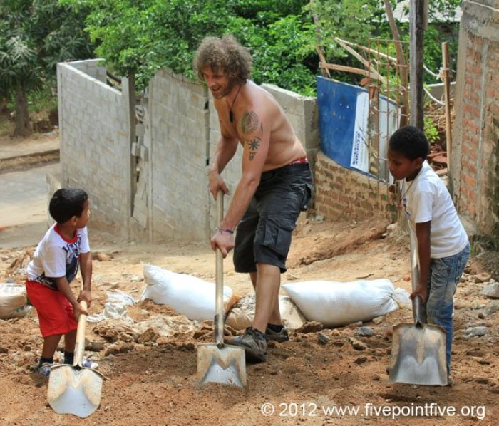 Digging in the trenches with some kids in Colombia