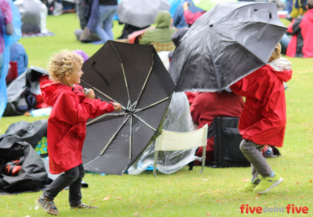 Kids play in the rain at WOMAD NZ