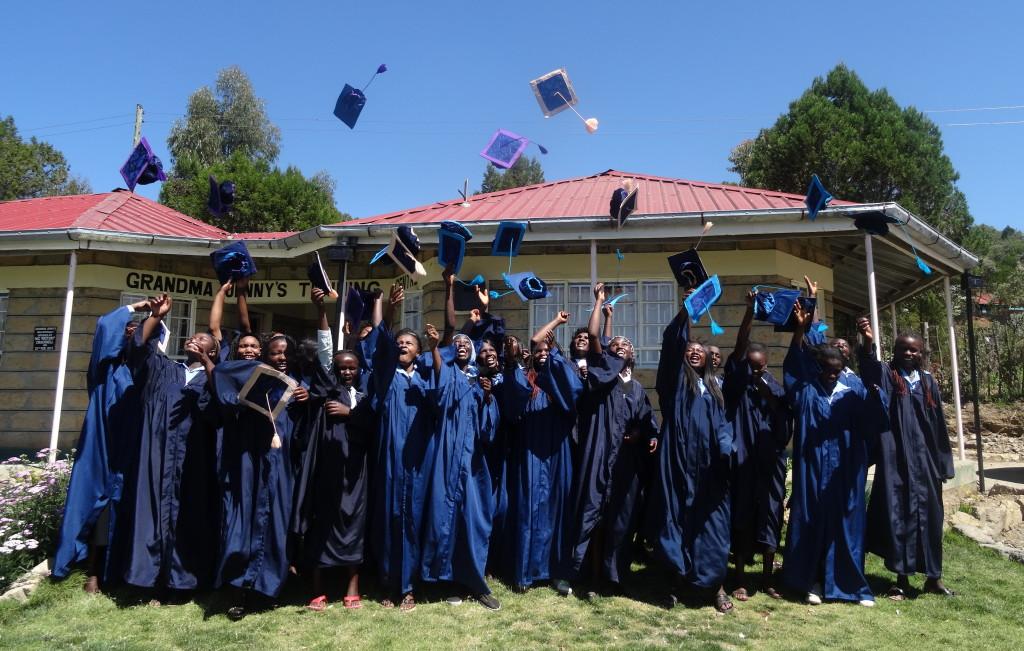 The very first graduates of Grandma Jenny's Training Centre.