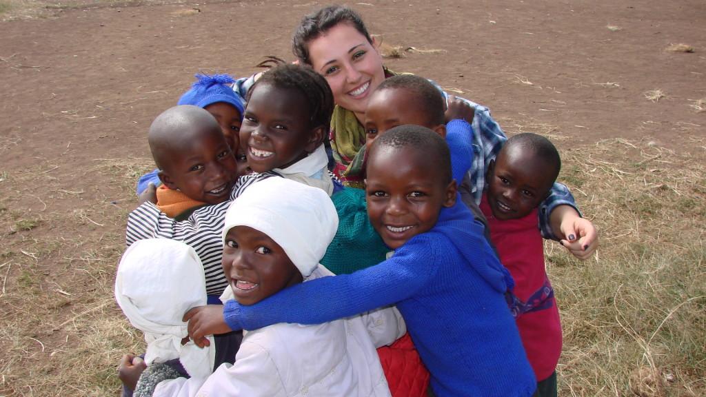Genna with the Emanuel Kindergarten students.