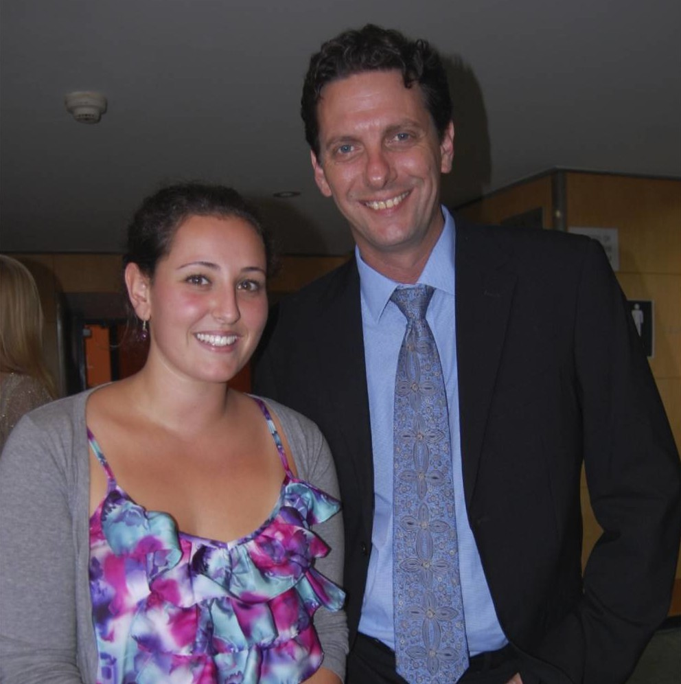 Genna with her high school tutor David Whitcombe. He is now officially a board member of Gennarosity Abroad.