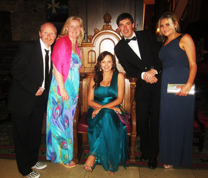 Supporters Mark (Deaf),  Veronica, Noleen (Deaf), Fr. Stephen Monaghan and Denise (Deaf) at a fundraiser for school.