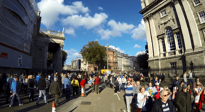 Crowd went on for miles around Dublin City
