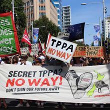 TPPA Protests, New Zealand
