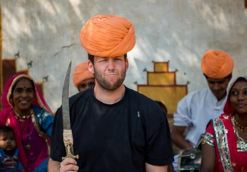 Travis Longmore in India