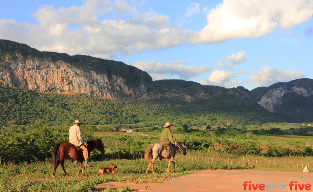 Horse riding in Viñales, Cuba
